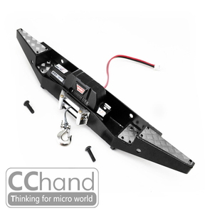 CChand 1/10 RC4WD 디펜더 D90/110 리어 윈치 메탈 범퍼