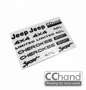 CChand AXIAL SCX10 II cherokee 메탈 스티커 [블랙색상]