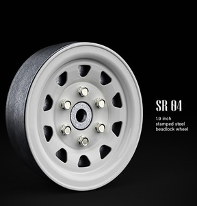 SR04 1.9inch beadlock wheels (Gloss white) (2)