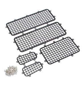 1/10 Traxxas TRX-4 Stainless Steel Side Window Mesh Guard Protective Net 1 Set  TRX-4 유리 철망구조 악세사리