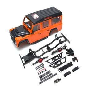 [BRQ90348D110W] 1/10 D110 Chassis Kit (Without Wheels Tires Shocks) w/ TRC Raffee Defender D110 Station Wagon Hard Body [D110 오픈 도어용바디 킷]