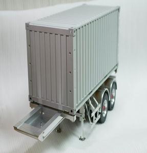 1/14 CNC 20피트 풀 알미늄 컨테이너와 20피트 트레일러 세트 [실차감을 그대로 느낄수 있는 신제품]