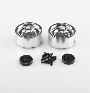 [97400153] CROSS 1/10 알미늄 광택 2.2인치 휠 [2개포함]
